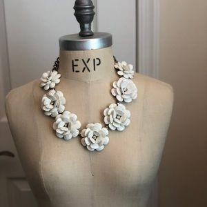 Jcrew Crystal Floral Burst Statement Necklace